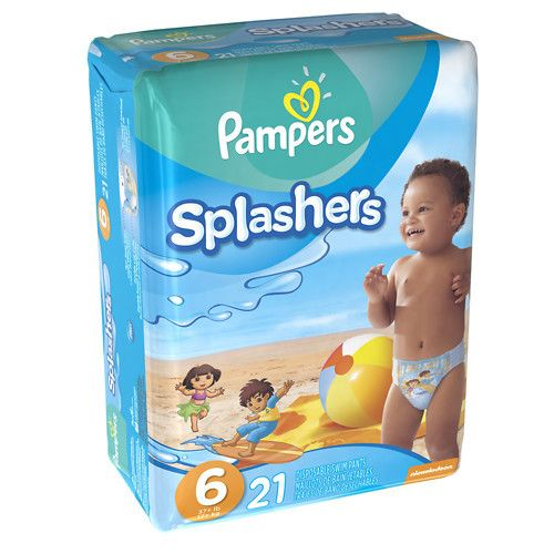 Pampers Splashers Swim Diapers Size 6
