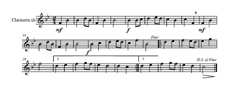 Anonyme : Il est né le Divin Enfant pour clarinette