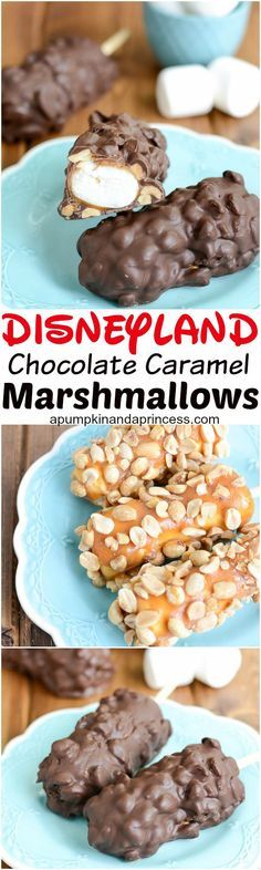 Chocolate caramel marshmallows - this Disneyland inspired treat is so easy to make!