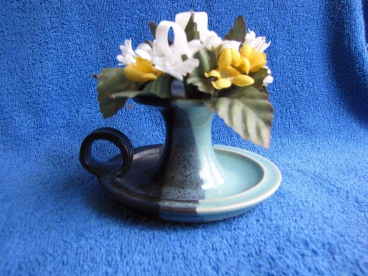 Candelabra Candle holder pottery Hempel Decor Design keramik green black