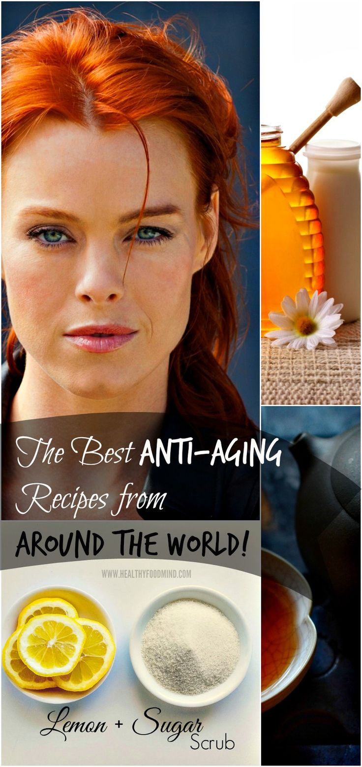The Best Anti-Aging Recipes from Around the World that may help to erase wrinkles and help you look younger! | Healthy Food Mind