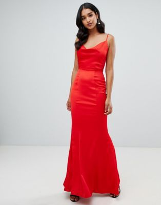 f9f4231c Shop Lipsy cowl neck maxi dress in red at ASOS. Discover fashion online.