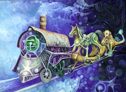 Locomotive by Inga Burina #ElementEdenArtSearch