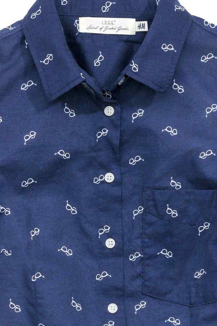Camisa mangas curtas algodão | H&M