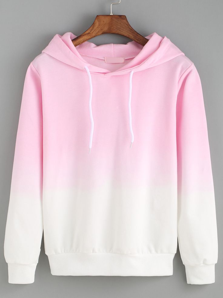 So creazy ! Just love ombre style so much ! This pink hoodie sweatshirt is so adorable ! i just can't leave cotton sweatshirt !