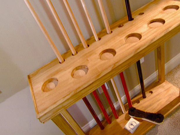 How to build a cue rack how to diy network diy for Cue rack plans