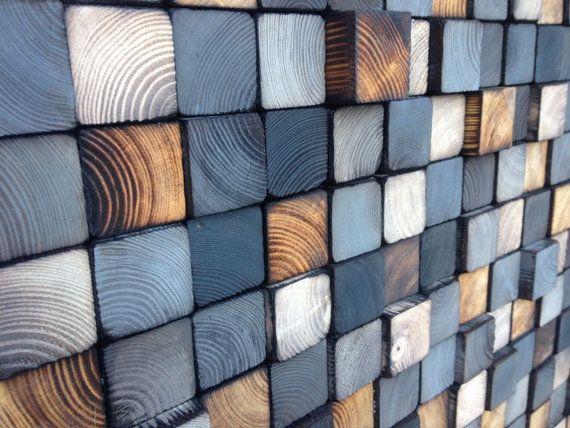 Parete di legno rigenerato Art legna parete di WallWooden su Etsy