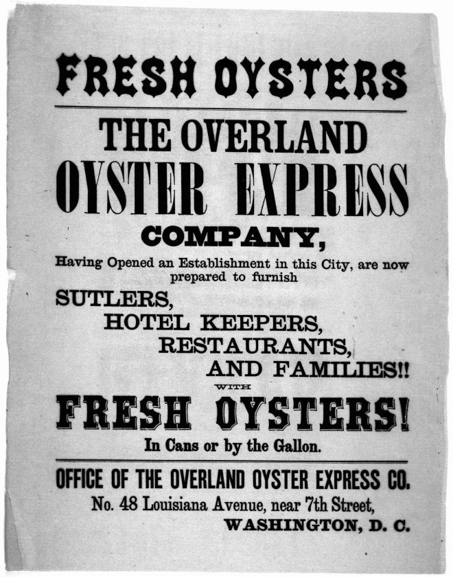 19th century advertisement for Chesapeake Bay oyster