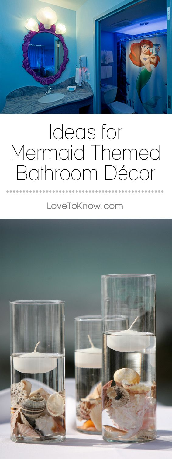 Both beautiful and mysterious, mermaids captivate the imagination of young and old alike. A mermaid theme can be used in any type of bathroom, from kids' bathrooms to master bathrooms and guest bathrooms. It's all in the type of décor you use, as mermaids are portrayed in many ways. | Ideas for Mermaid Themed Bathroom Decor from #LoveToKnow