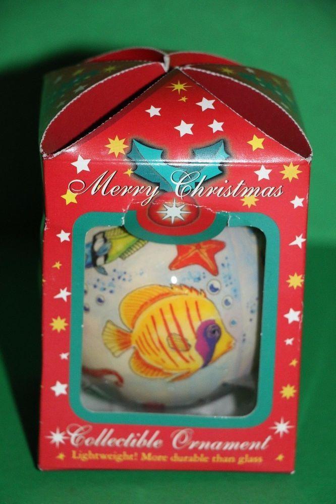 Panama City Beach Florida Tropical Fish Ball Souvenir Christmas Ornament