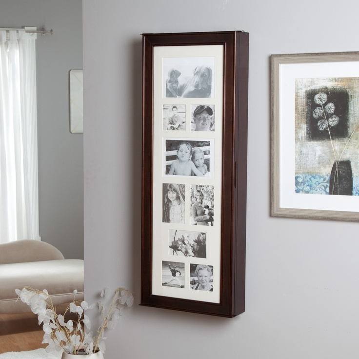 Tri fold photo frame jewelry organizer fotos fotos for Picture frame organization wall