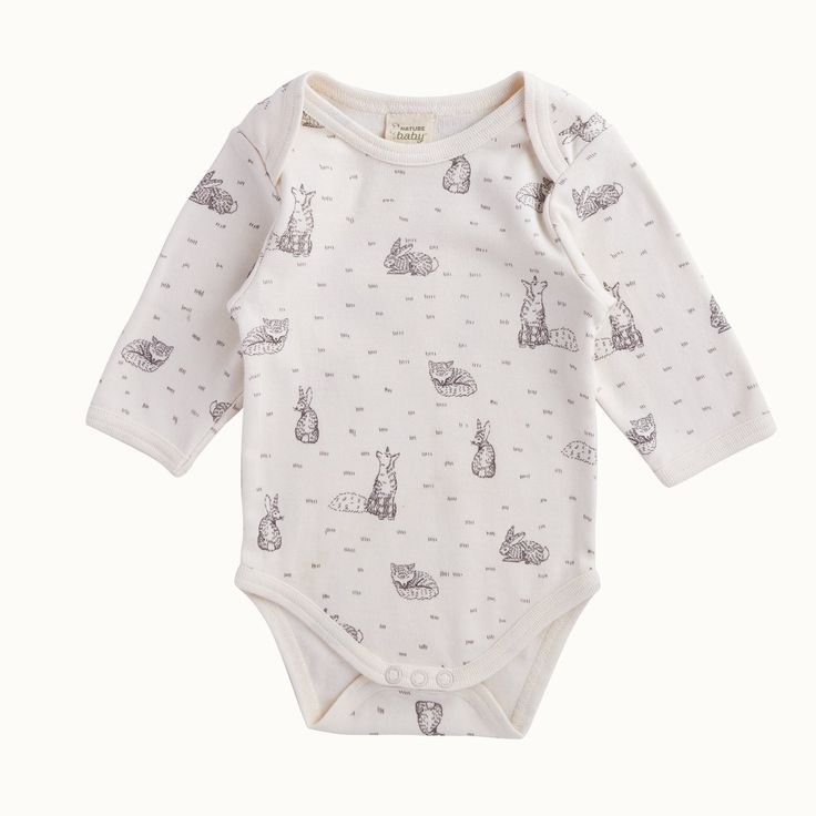 Organic Cotton Long Sleeve Bodysuit | Nature Baby
