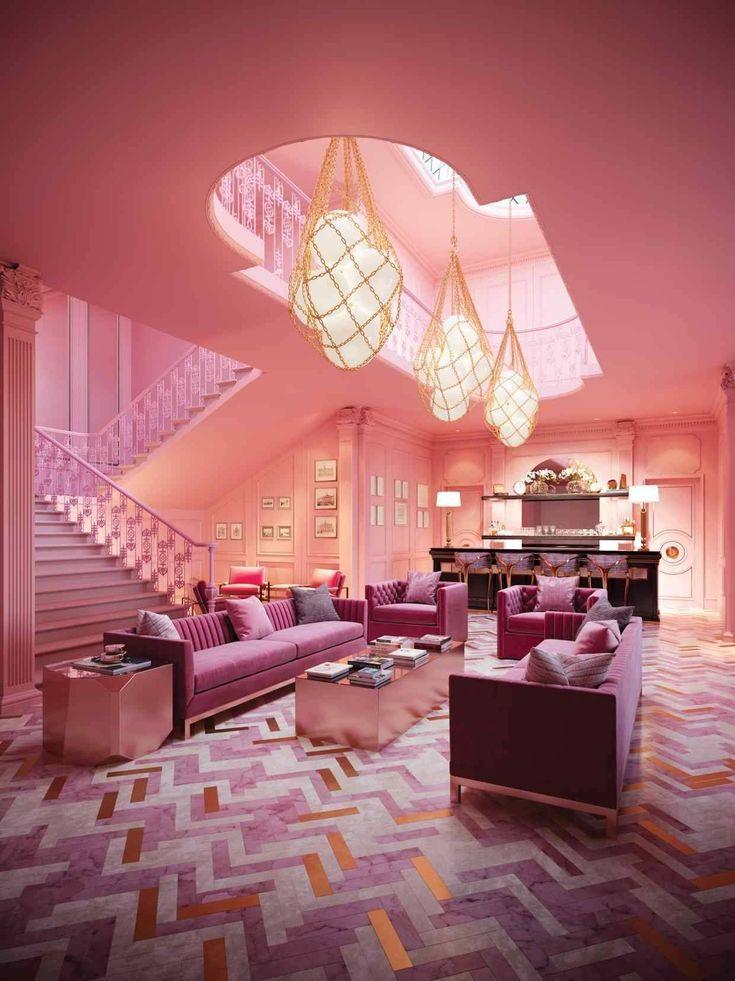 pink lobby dream house in 2019 pinterest home decor bedroom rh pinterest com
