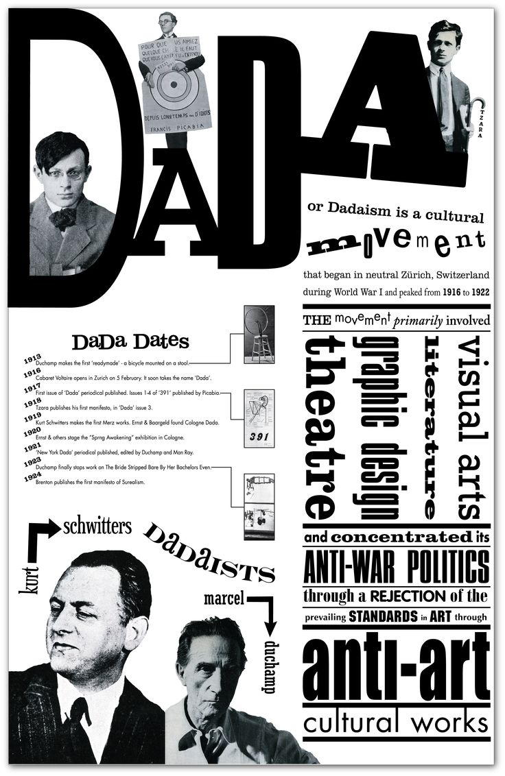 dadaism essay In this essay i will explain the differences and similarities between the two art and literary movements dada and surrealism to help show you the differences between these two movements i will use one example of each movement, as a dada example i will use marcel duchamp and his work the fountain.