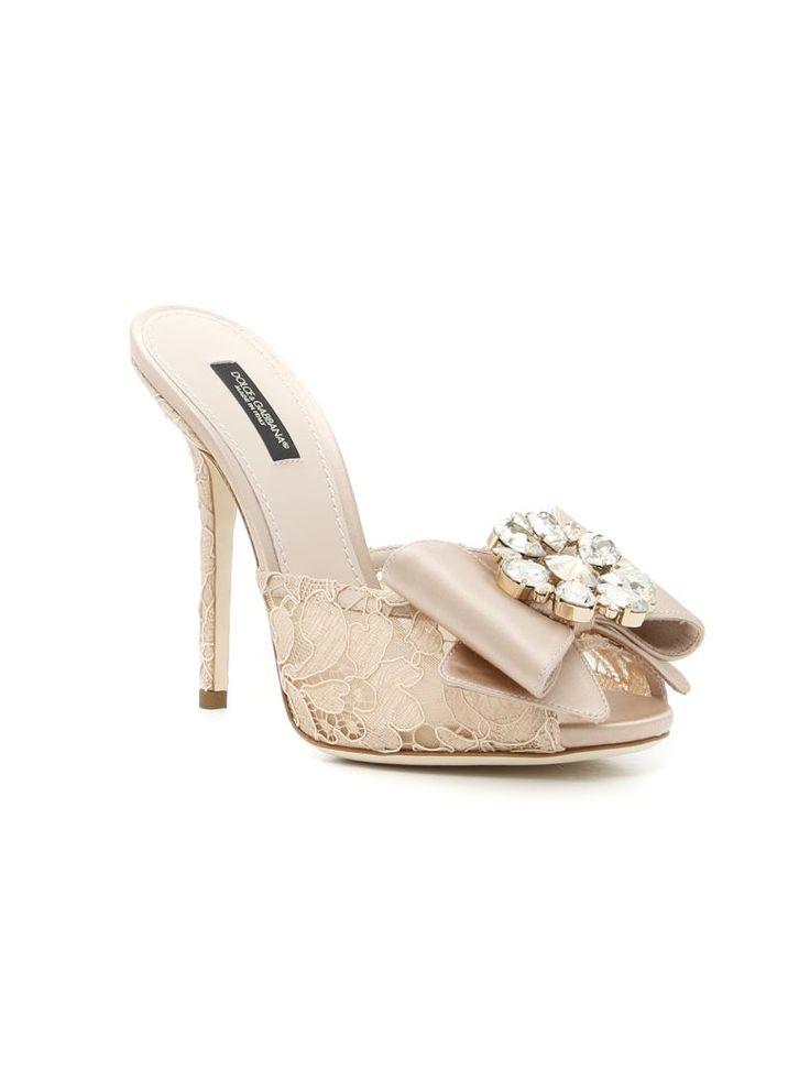 DOLCE & GABBANA Taormina Lace Mules. #dolcegabbana #shoes #