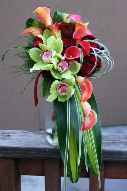 Wedding Bouquet-Orchids-Floral                              …                                                                                                                                                                                 Más