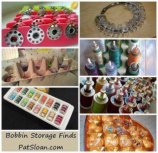 pat sloan bobbin storage ideas | by quilterpatsloan