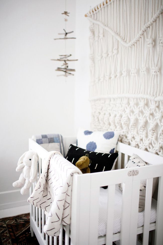 babyletto Origami Mini Crib - From Kitchen Dwelling to Baby Nook.<p><small><a href='http://ablognamedscout.com/from-kitchen-dwelling-to-baby-nook/'>source</a></small></p>