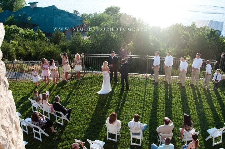 backyard wedding on table rock lake in branson missouri hitched in branson pinterest branson missouri and wedding