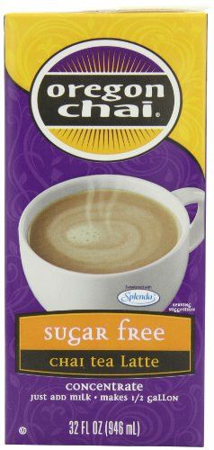 Oregon Chai Sugar Free Chai Tea Latte Concentrate, 32-Ounce Boxes (Pack of 6)