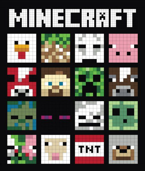 Minecraft Quilt Along: My Pixelated version of a Minecraft-inspired quilt.