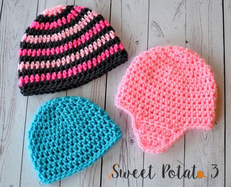 Basic Hat with Earflaps | AllFreeCrochet.com