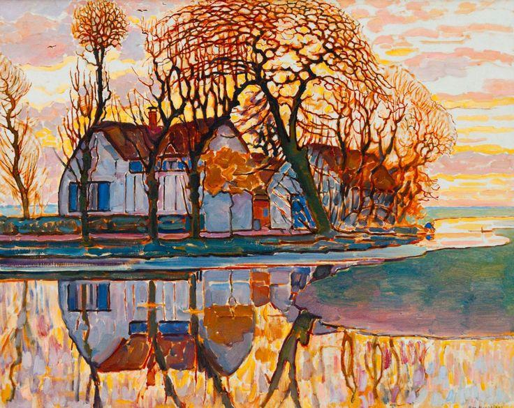 """""""Farm near Duivendrecht"""" by Piet Mondrian, 1916"""