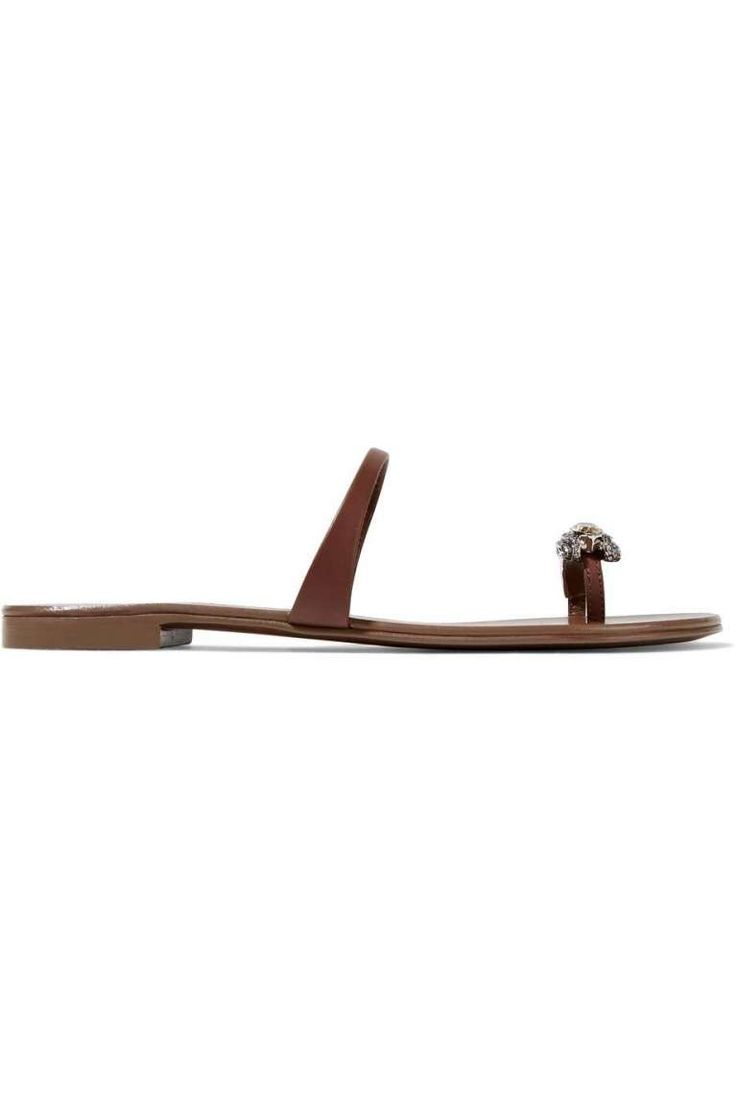 Sandali di cuoio Giuseppe Zanotti - Dalla collezione primavera estate 2017 di scarpe Giuseppe Zanotti, sandali di cuoio in pelle.