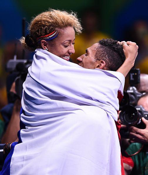 Rio Brazil 21 August 2016 Tony Yoka of France celebrates victory over Joe Joyce…