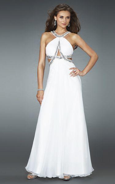 Vestidos de noche en color blanco