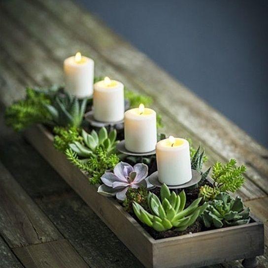 Summer Gifts - Candle centerpiece planter