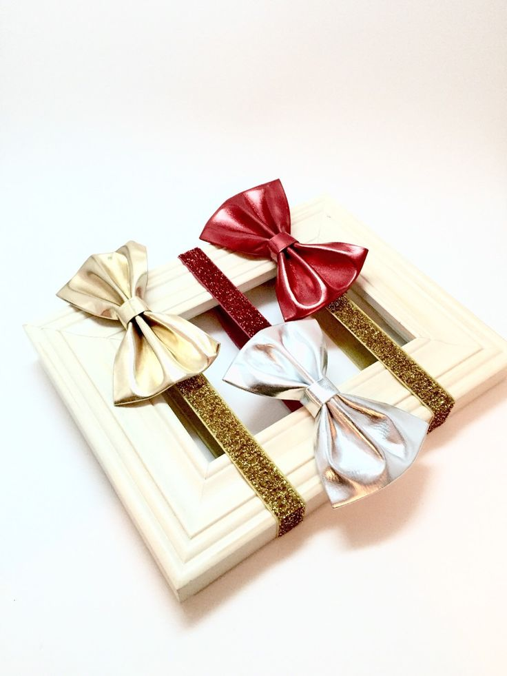 Christmas Bow - Baby Bow Red, Gold, Silver. Holiday Baby Bow, Christmas Baby Bow, Christmas Headband, Baby Leather Bow, Newborn Bow by Simpletreeboutique on Etsy https://www.etsy.com/listing/259337002/christmas-bow-baby-bow-red-gold-silver