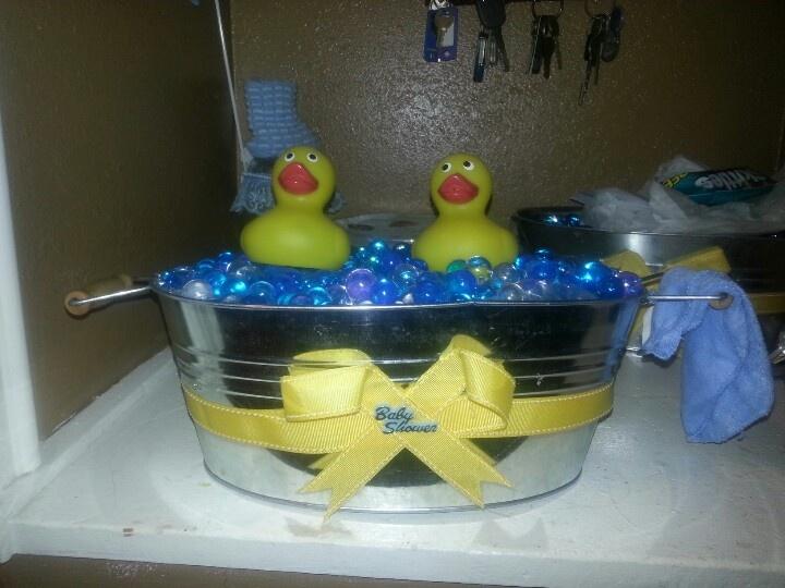 Duck Baby Shower Centerpieces.