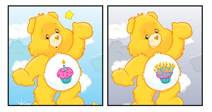Birthday Bear turned into Closing-In-On-30 Bear. | If The Care Bears Were Twentysomethings