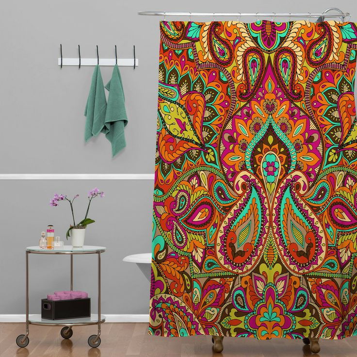 Aimee St Hill Paisley Orange Shower Curtain | DENY Designs Home Accessories