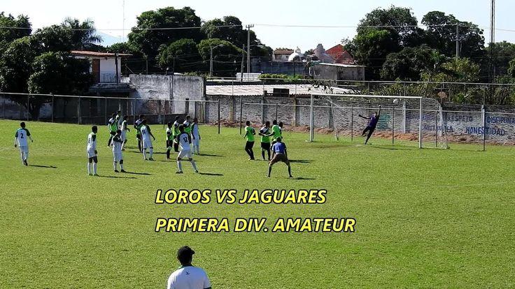 Loros vs Jaguares partido de primera división amateur de Colima