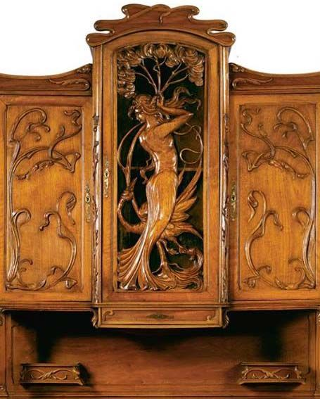135 best art nouveau mobilier images on pinterest art nouveau antique furniture and art. Black Bedroom Furniture Sets. Home Design Ideas