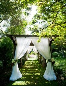 Easy Drape On A Pergola To Create A Special Event Look Wedding Look