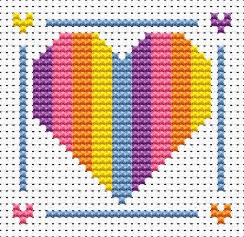 Heart Cross Stitch - Sew Simple