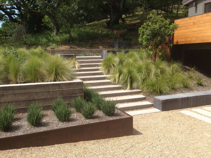 railroad ties landscaping landscape contemporary with frosted glass panel black path lights