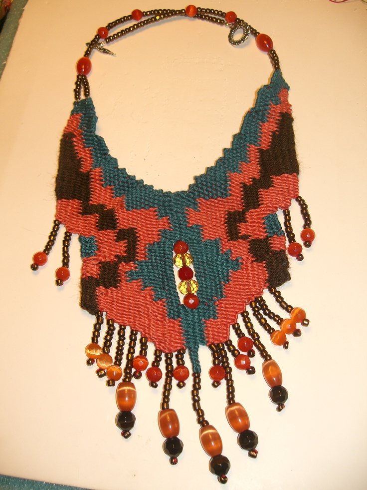 Anastasia Iordanaki- necklace: cotton,glass beads