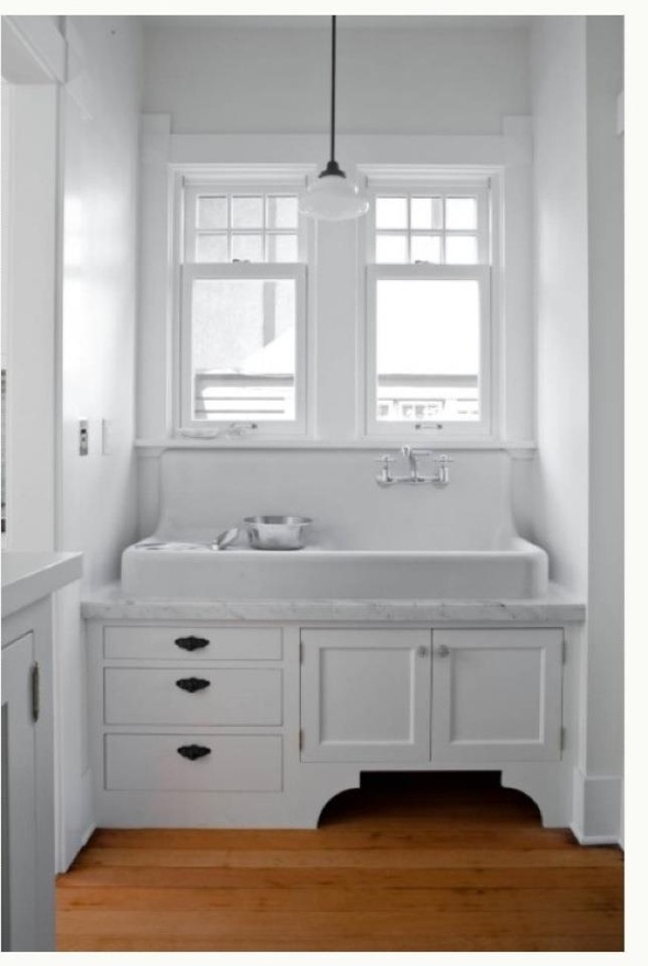 cast iron laundry sink by sprayfaint white and wood white rh pinterest com