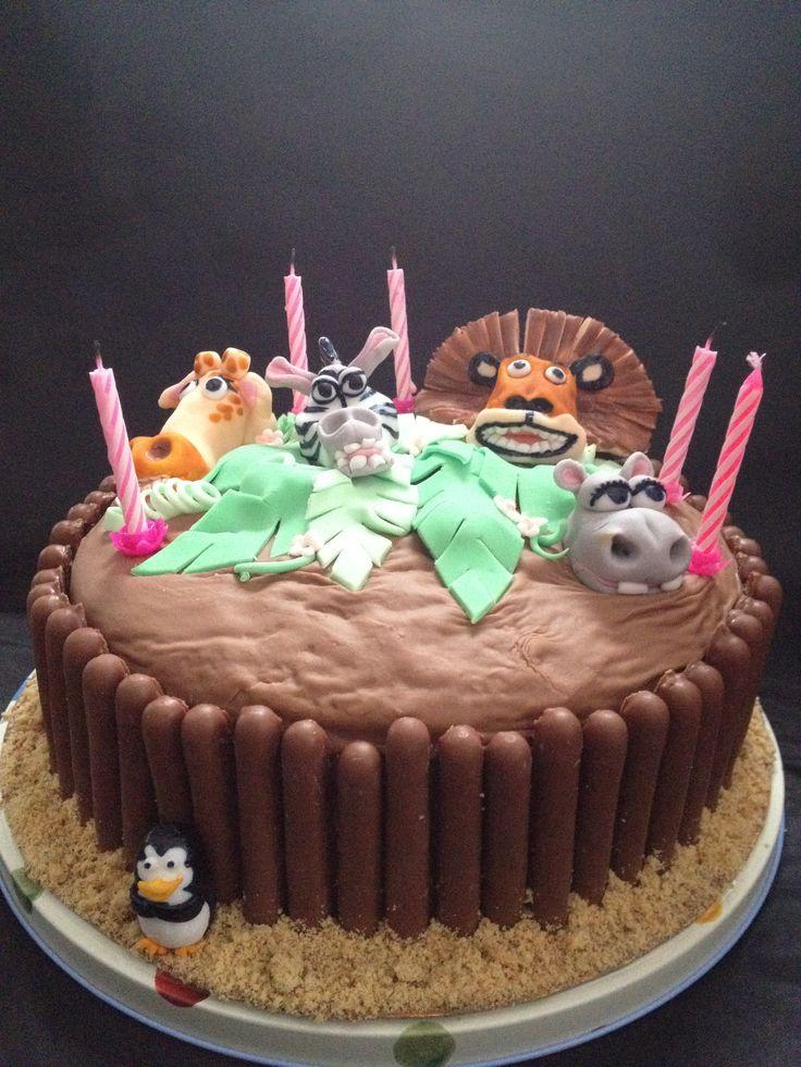 Madagascar birthday cake