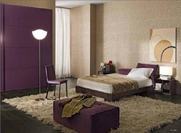 Purple Bedroom Wall Colors Wall Art Floor Lamp