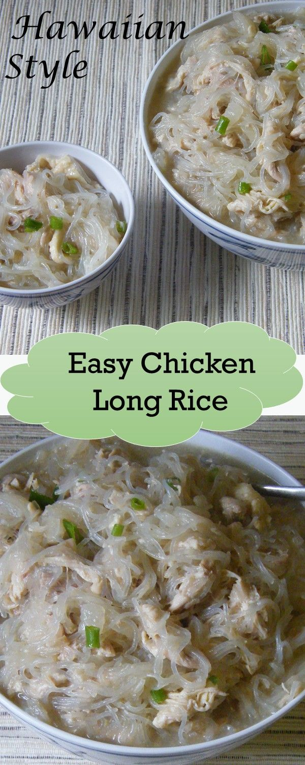 Here's an easy chicken long rice recipe. Great as a side dish or dinner. Get more island style recipes here.