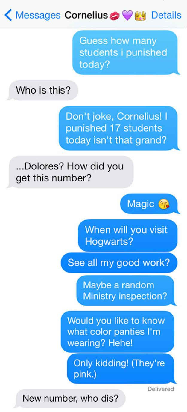 "12 Texts From The ""Harry Potter"" Characters"