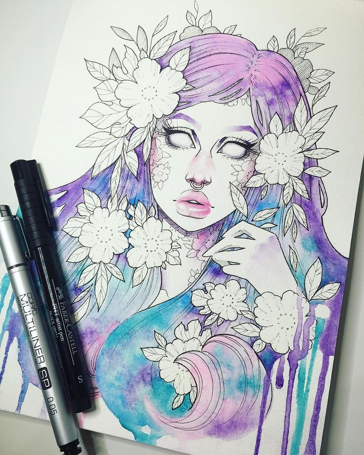 """Amorphous"" Watercolor & ink in my watercolor sketchbook Now on to…"