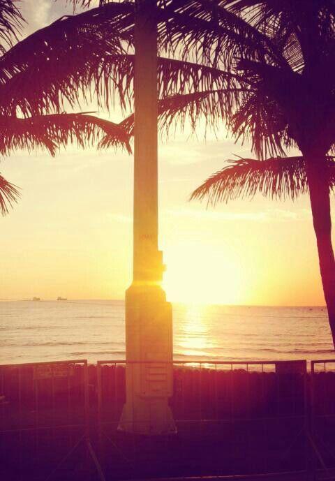 Sunrise on the beach front