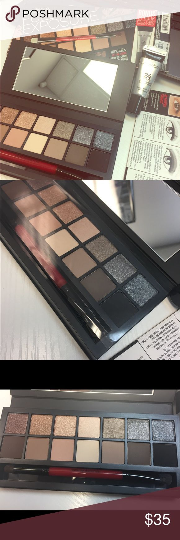 Smashbox Full Exposure palette 🎨 Smashbox Eyeshadow palette. Like new. Only opened to try the glitter shadow once. Great condition🔥🔥 Smashbox Makeup Eyeshadow