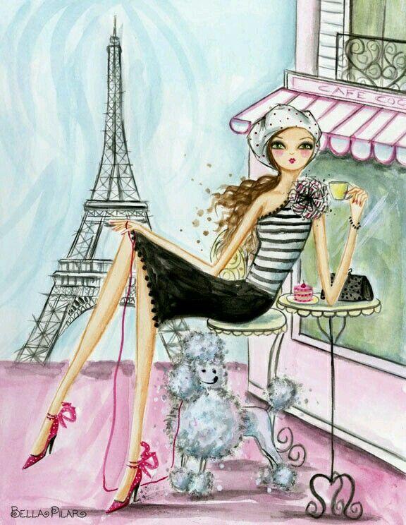 Картинки во французском стиле нарисованные, меня картинка прикольная